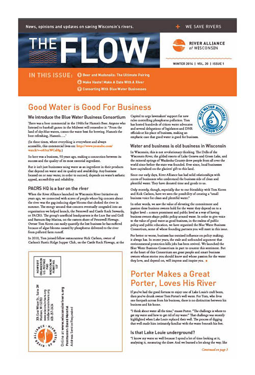 Cover of FLOW Newsletter