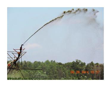 Irrigation Spreading Shit